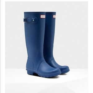 Matte dark purple Hunter Original Rain Boots